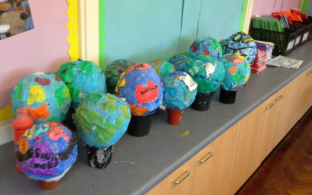 Paper Mache globes