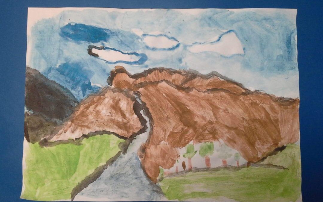 Year 5's mountain watercolours
