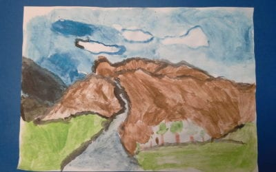 Year 5's mountain watercolours